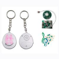 High quality round musical chip key chain