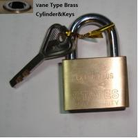 Buy Brass Padlocks VANE TYPE SQUARE BRASS PADLOCK at wholesale prices