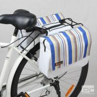 China canvas strips ladies rear rack bag bike trunk pannier on sale