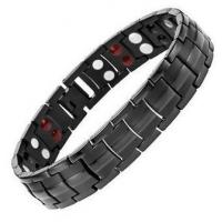 Quality Titanium Double Row 4 Elements Magnetic Health Power Bracelet for Men for sale