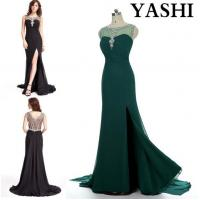 Quality Trumpet/Mermaid off-The-Shoulder Court Train Chiffon Evening Dress with Beading Sequins for sale