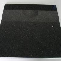 China Granite Materials Black Galaxy Granite Tiles for sale