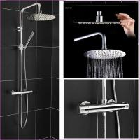 China Round Head Riser Thermostatic Shower System on sale