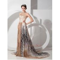Buy cheap 2014 New Arrival Leopard With Zebra Special Fabric Prom Dress from wholesalers
