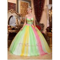 Buy cheap 2014 Latest Fashion Contrast Color Dress Wear To Quince Party from wholesalers