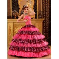 Buy cheap Beautiful Sweetheart Organza and Zara Layers Pink Quinceanera Dress 2014 from wholesalers