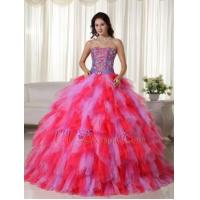 Multi-color Lilac And Hot Pink Quinceanera Puffy Big Skirt Luxury