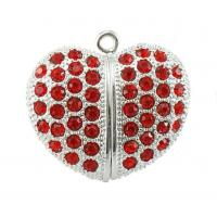 Buy cheap Jewelry Style Heart Shape USB Flash Drive, Red Bli from wholesalers