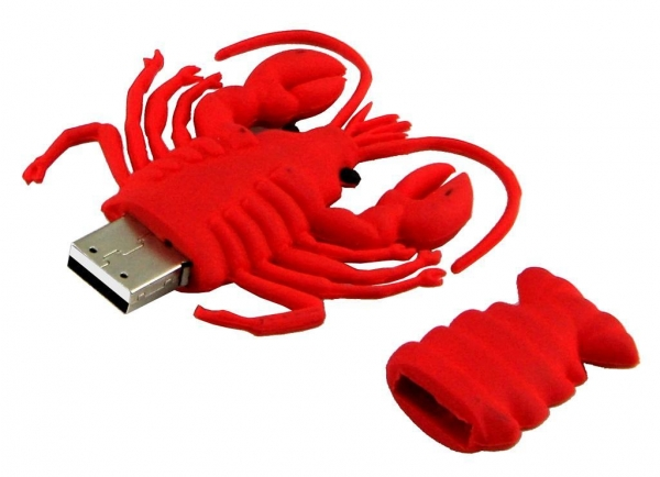 Buy Red Lobster Customized USB Thumb Drives, Custom US at wholesale prices