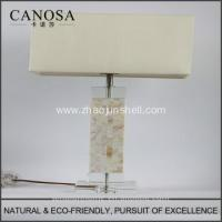 Quality High Quality low price chinese seashell table lamps with crystal pedestal for sale