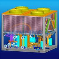 New-style compensation type heat-pump water chiller and heater with dual sources for sale