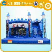 Quality Frozen Bouncy Castle Inflatable Elsa Jumping Bouncer with Slide , air bouncer inflatable trampoline for sale