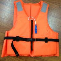 Quality Customized Orange Reflective Life Vest with Lifesaving Whistle for sale