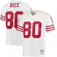 China Mitchell & Ness Jerry Rice San Francisco 49ers White 1990 Replica Retired Player Jersey on sale