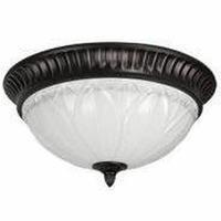 China DECORATIVE CFL CEILING FIXTURE 15 White Alabaster Glass on sale