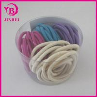 Quality 4 Mm Round Elastic Hair Band Pack In the PVC Box for sale