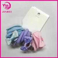 Quality Colorful Nylon Hair Band with Bow Tie for sale