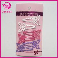 China Newest Color Butterfly Hair Clips For Children on sale