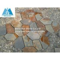 Multicolor slate flagstone,rust slate paving stone,slate flagstone patio,flagstone pavers for sale