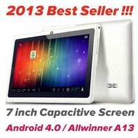China 7'' capacitive Screen Android 4.0 Tablet PC Allwinner A13 WIFI Camera Q88 on sale