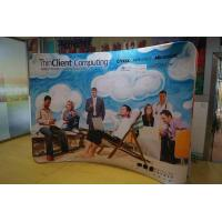 Fabric banner Arc Shape Double Sided Retractable Pop Up Banners