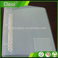 Quality A3 A4 Clear Plastic Document Folder With Card Holder Pocket JY-303088 for sale