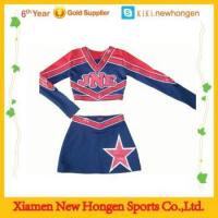 China custom cheap cheerleading uniforms, plus size cheerleading uniforms custom design on sale