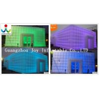 Quality 10X10 Inflatable Cube Tent For Party Event Wedding with LED light for sale