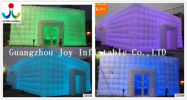 China 10X10 Inflatable Cube Tent For Party Event Wedding with LED light