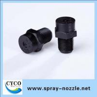 Plastic misting nozzle with hollow cone