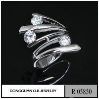 Quality Rings R5850 925 Silver New Design Ring White Gold Plated for sale