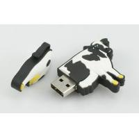 Quality Dairy Cow Shape High Speed USB Stick, Customized USB Flash Drive Memory 4GB for sale