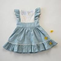 Quality Newest summer dresses with sleeve ruffle fashion dress for girl dress 6 years for sale