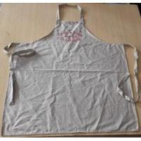 Apron high quality wedding/customized 100% cotton vintage apron in beige color with embroidery