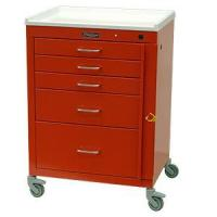 "Five Drawer Mini24 Emergency Cart (Short Cabinet) with 3"" Casters, Breakaway Lock #4145B for sale"