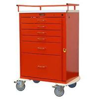 Crash Carts Classic Line, Six Drawer Crash Cart  Emergency Cart, Standard Package #6400 for sale