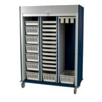 China Preconfigured Triple Column Medical Storage Cart with Tambour Door #MS8160-CYSTO for sale
