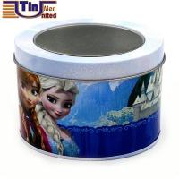 Small Oval Customized Design Watch Tin Canister with PET Window