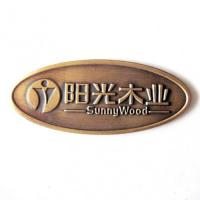 Quality wooden brass metal oval engraved brass plates for sale