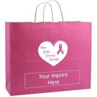 Quality Custom Shopping Bag - Breast Cancer Awareness Kraft Finish for sale