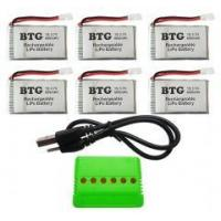 Quality BTG 6PCS 3.7V 600mAh Lipo Battery with for sale