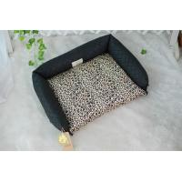 Quality Double use Leopard Print Dog Bed for sale