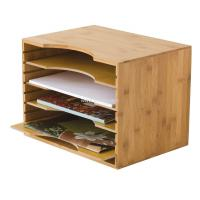 Bamboo File Organizer with 4 Dividers