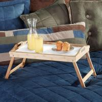 Quality Bamboo Folding Bed Tray, Laptop Tray With Handles for sale