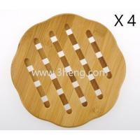 Quality Bamboo Curve Trivet Mat,Bamboo heat resistant table mats for sale