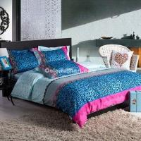 Quality Blue Night Cheetah Print Bedding Sets for sale