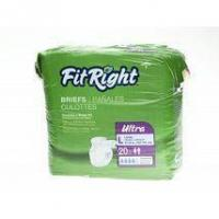 Incontinence Supplies FitRight Ultra Adult Disposable Briefs Small 20-33 - 80 Count