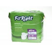 "Buy Incontinence Supplies FitRight Ultra Adult Disposable Briefs Small 20""-33"" - 80 Count at wholesale prices"