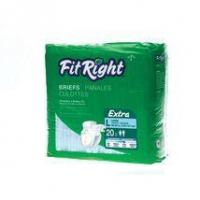 "Quality FitRight Extra Adult Disposable Briefs Small 20""-33"" - 80 Count for sale"