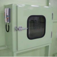 China Hospital Cleaning Rooms Stainless Steel Electronic Interlock Pass Box with UV Lights Equipment on sale